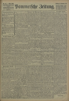 Pommersche Zeitung : organ für Politik und Provinzial-Interessen. 1906 Nr. 217 Blatt 1
