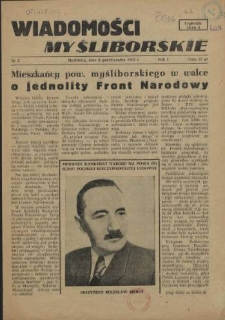 Wiadomości Myśliborskie. R.1, 1952 nr 3