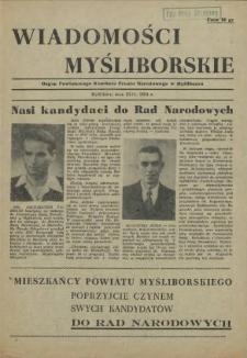 Wiadomości Myśliborskie. 1954 z dnia 23 XI