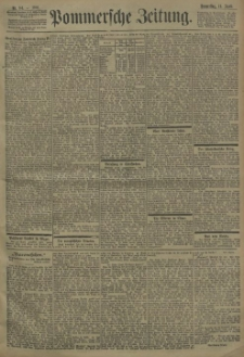 Pommersche Zeitung : organ für Politik und Provinzial-Interessen. 1901 Nr. 187