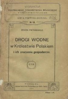 Drogi wodne w Królestwie Polskiem i ich znaczenie gospodarcze