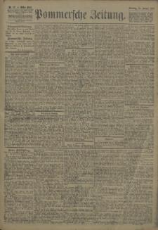 Pommersche Zeitung : organ für Politik und Provinzial-Interessen. 1907 Nr. 17 Blatt 1