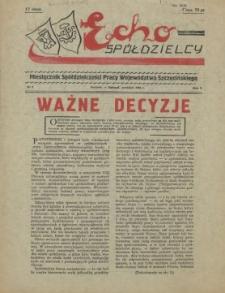 Echo Spółdzielcy : miesięcznik Spółdzielczości Pracy Województwa Szczecińskiego. R.1, 1956 nr 2