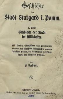 Geschichte der Stadt Stargard i. Pomm. Bd. 1, Geschichte der Stadt im Mittelalter