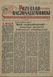 Przegląd Racjonalizatorski : organ Klubu Techniki i Racjonalizacji przy Zw. Branżowym Spółdzielni Budowlanych. R.2, 1954 nr 1-2