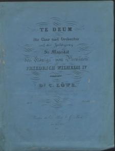 Te Deum : für Chor und Orchester : Op. 77