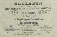 Balladen von Herder, Uhland, Goethe, Körner und Alexis. No 4 Treuröschen
