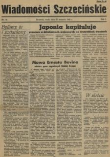 Wiadomości Szczecińskie : biuletyn Urzędu Informacji i Propagandy na Okręg Pomorze Zachodnie. R.1, 1945 nr 14