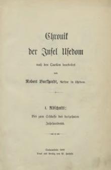 Chronik der Insel Usedom : [Abschnitt 1 - 3]