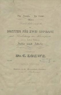 Die Freude ; An Sami ; März : drei Gedichte von Göthe als Duetten für zwei Soprane mit Begleitung des Pianoforte : Op.104. No 2 : An Sami : Indisches Gedicht