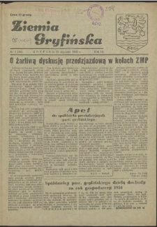 Ziemia Gryfińska. R.3, 1955 nr 1