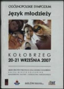 Ogólnopolskie sympozjum - język młodzieży