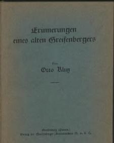 Erinnerungen eines alten Greifenbergers