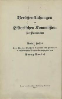 Des Thomas Kantzow Chronik von Pommern in niederdeutscher Mundart