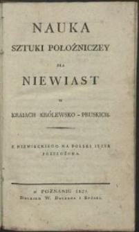 Nauka sztuki położniczey dla niewiast w kraiach królewsko-pruskich