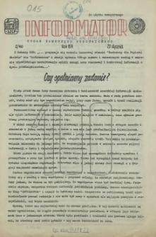 Informator : organ Samorządu Robotniczego. R.3/4, 1974 nr 2