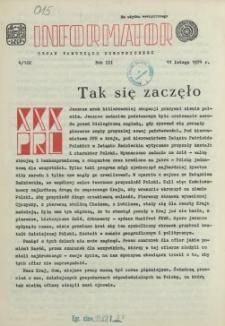 Informator : organ Samorządu Robotniczego. R.3/4, 1974 nr 4