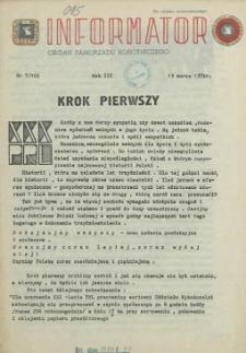 Informator : organ Samorządu Robotniczego. R.3/4, 1974 nr 7