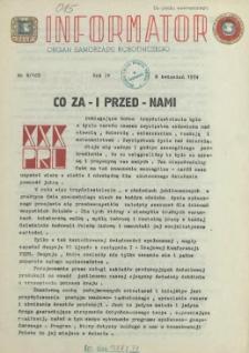 Informator : organ Samorządu Robotniczego. R.3/4, 1974 nr 8