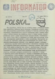 Informator : organ Samorządu Robotniczego. R.3/4, 1974 nr 14