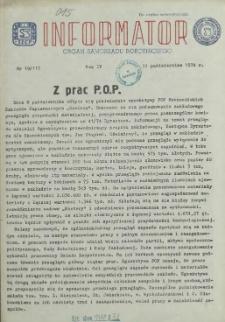 Informator : organ Samorządu Robotniczego. R.3/4, 1974 nr 19
