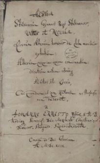 Album studiosorum Gymnasi Regi Stetinensis, vetus et novum [...]