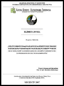 Wpływ ścieków pogalwanicznych na efektywność procesu oczyszczania w komunalnej oczyszczalni ścieków w Reczu oraz możliwość zagospodarowania osadów nadmiernych i wyprodukowanych z nich kompostów