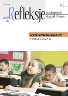Refleksje : zachodniopomorski miesięcznik oświatowy. 2008 nr 5