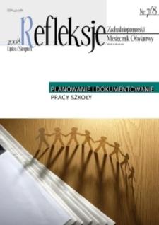 Refleksje : zachodniopomorski miesięcznik oświatowy. 2008 nr 7/8
