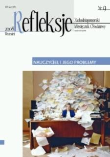 Refleksje : zachodniopomorski miesięcznik oświatowy. 2008 nr 9