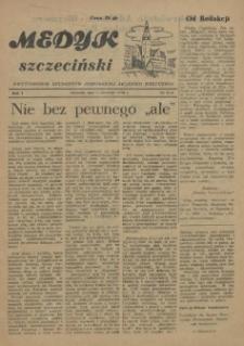Medyk Szczeciński : pismo studentów Pomorskiej Akademii Medycznej. 1955 nr 5-6
