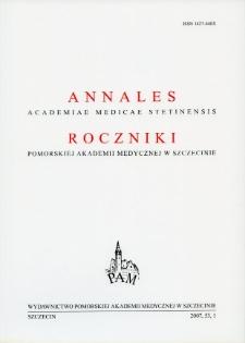 Annales Academiae Medicae Stetinensis = Roczniki Pomorskiej Akademii Medycznej w Szczecinie. 2007, 53, 1
