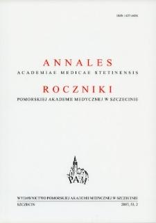 Annales Academiae Medicae Stetinensis = Roczniki Pomorskiej Akademii Medycznej w Szczecinie. 2007, 53, 2