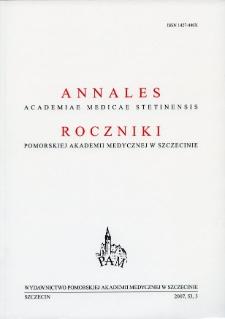 Annales Academiae Medicae Stetinensis = Roczniki Pomorskiej Akademii Medycznej w Szczecinie. 2007, 53, 3