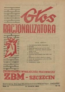 Głos Racjonalizatora : organ komórki wynalazczości pracowniczej ZBM-Szczecin. 1955 nr 13