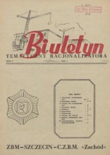 Biuletyn Tematyczny Racjonalizatora : ZBM Szczecin. 1956 nr 17