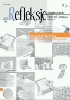 Refleksje : zachodniopomorski miesięcznik oświatowy. 2007 nr 5