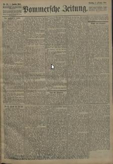 Pommersche Zeitung : organ für Politik und Provinzial-Interessen. 1908 Nr. 93 Blatt 1