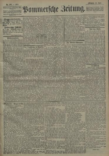 Pommersche Zeitung : organ für Politik und Provinzial-Interessen. 1908 Nr. 110 Blatt 1
