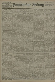 Pommersche Zeitung : organ für Politik und Provinzial-Interessen. 1908 Nr. 181