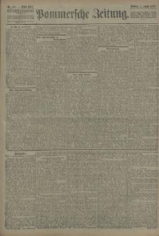 Pommersche Zeitung : organ für Politik und Provinzial-Interessen. 1908 Nr. 186 Blatt 1