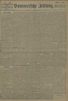 Pommersche Zeitung : organ für Politik und Provinzial-Interessen. 1908 Nr. 192 Blatt 1