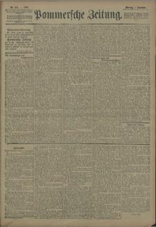 Pommersche Zeitung : organ für Politik und Provinzial-Interessen. 1908 Nr. 210 Blatt 1