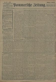 Pommersche Zeitung : organ für Politik und Provinzial-Interessen. 1908 Nr. 222 Blatt 1