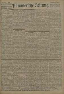 Pommersche Zeitung : organ für Politik und Provinzial-Interessen. 1908 Nr. 237