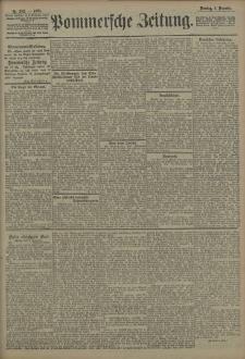 Pommersche Zeitung : organ für Politik und Provinzial-Interessen. 1908 Nr. 287 Blatt 1