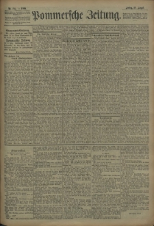 Pommersche Zeitung : organ für Politik und Provinzial-Interessen. 1909 Nr. 195
