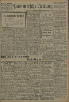 Pommersche Zeitung : organ für Politik und Provinzial-Interessen. 1909 Nr. 220 Blatt 1