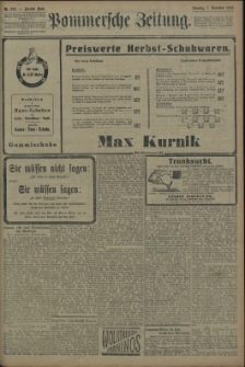 Pommersche Zeitung : organ für Politik und Provinzial-Interessen. 1909 Nr. 258