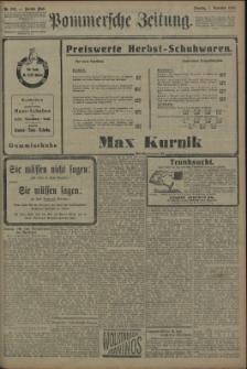 Pommersche Zeitung : organ für Politik und Provinzial-Interessen. 1909 Nr. 260